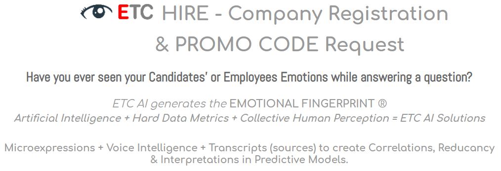 ETC HiRE - Company Registration & Promo Code